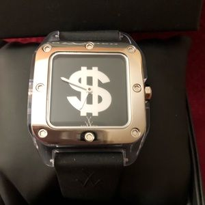 Toy Watch Two Reversible Sparkle Dollar Sign Watch